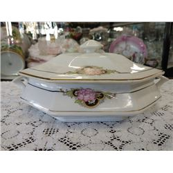 VINTAGE CHINA CASSEROLE WITH LID