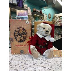 """COLLETIBLE CHRISTMAS SANTA  BEAR, """"THE BEARS OF SAGAMORE HILL"""" BY MIDWEST OF CANNON FALLS"""