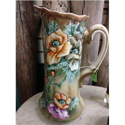 ANTIQUE PITCHER NIPPON BY ROYAL NISHIKI HANDPAINTED