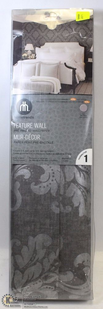 Home trends feature wall pre pasted wallpaper kastner for Home trends wallpaper