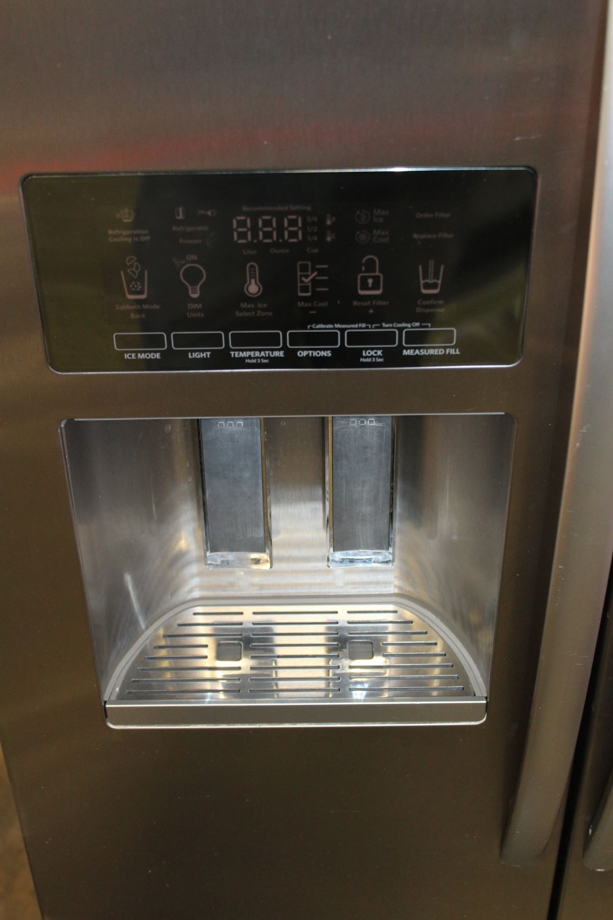 ... Image 4 : NEW KITCHEN AID STAINLESS FRENCH DOOR COUNTER DEPTH FRIDGE  WITH DIGITAL SCREEN WATER ...