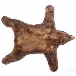 Montana Black Bear Double Mounted Taxidermy Rug