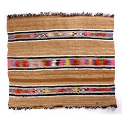 Navajo Mohair Hand Woven Crystal Pattern Rug