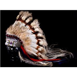 Osage Feathered Cheif's Headdress circa 1940