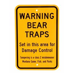 Montana Game Fish & Parks Bear Trap Sign