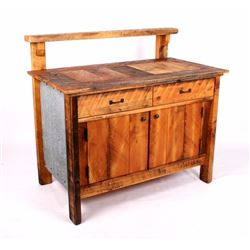 Montana Rustic Reclaimed Timber Potting Bench
