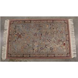Persian Hand Woven Kerman Tree of Life Style Rug