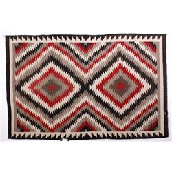 Navajo Old Crystal Eye Dazzler Trade Wool Rug