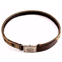 Deer Lodge Prison Hitched Horsehair Belt c. 1890-