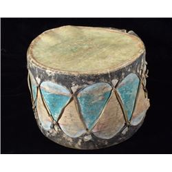 Northern Plains Polychrome Painted Drum 1900