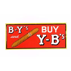Original Y-B Cigar Advertising Sign