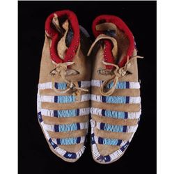 Crow Indian Beaded Moccasins