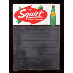 1968 Squirt Chalkboard Menu Sign