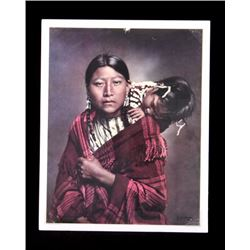 L.A. Huffman Young Cheyenne Mother and Child Photo