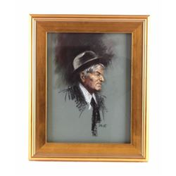 Donald Muth Pastel Portrait of C.M. Russell