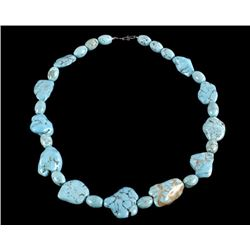 Cripple Creek Turquoise Chunk Necklace