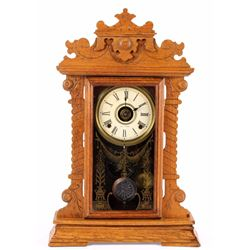 "Antique Seth Thomas Oak ""Kitchen"" Clock"