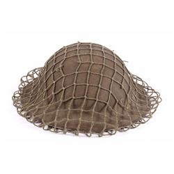 WW1 Era US Military Helmet w/ Camouflage Netting