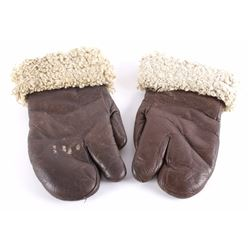 WW2 Era A-9 Sheepskin Bomber Gauntlet Gloves