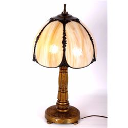 Art Deco Lamp With Victorian Shade