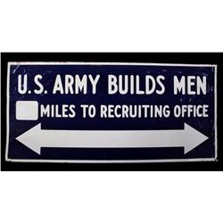 "WW1 Era ""U.S"" Army Builds Men"" Recruiting Sign"