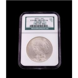Binion Collection 1922 Silver Peace Dollar