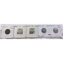 Canada Five Cent - CHOICE OF 4 STRIPS