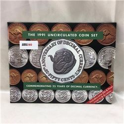 The 1991 Uncirculated Coin Set