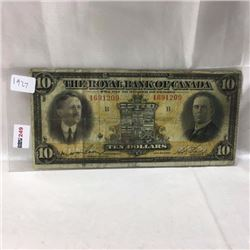 The Royal Bank of Canada $10 Bill