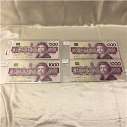 Canada $1000 Bills in Series