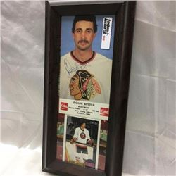 "Hockey - Framed - Autographed ""Coca Cola"" Card Picture"