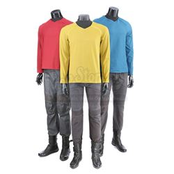 STAR TREK (2009) and STAR TREK INTO DARKNESS (2013) - Set of Three Enterprise Uniforms