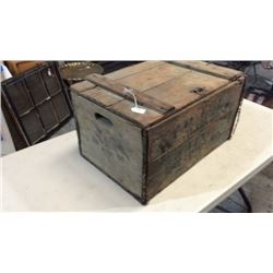 "Antique ""budweiser"" Wooden Case"