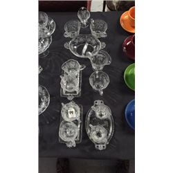 15pc Etched Glass