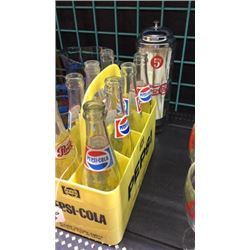 Pepsi Bottles and Straw Holder