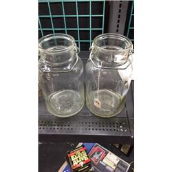 2 - 1gal Glass Jars