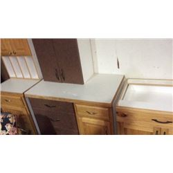 3 cabinet bases 2 tops
