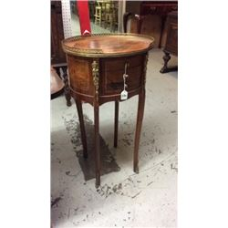 Antique Stand with Inlaid Design