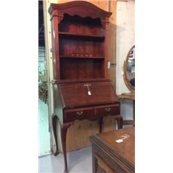 Cherry Desk with Hutch Top