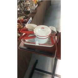 15 pc enamel cooking pot set
