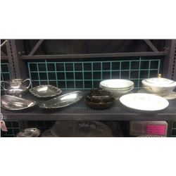 Lot of Glass Ware & silver ware
