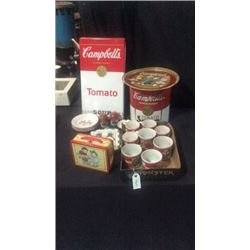 Lot of Campbell's soup items