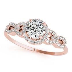 1.08 CTW Certified VS/SI Diamond Solitaire Ring 18K Rose Gold - REF-192X9T - 27961
