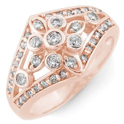 0.75 CTW Certified VS/SI Diamond Ring 14K Rose Gold - REF-67H3W - 11007