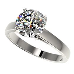 2.55 CTW Certified H-SI/I Quality Diamond Solitaire Engagement Ring 10K White Gold - REF-883R6K - 36