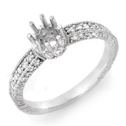 0.50 CTW Certified VS/SI Diamond Ring 18K White Gold - REF-53R3K - 11032