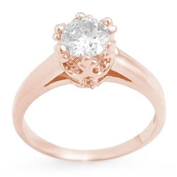 1.0 CTW Certified VS/SI Diamond Ring 14K Rose Gold - REF-274K2R - 11547