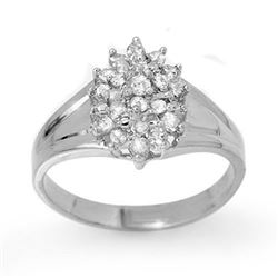 0.25 CTW Certified VS/SI Diamond Ring 14K White Gold - REF-32H2W - 13392