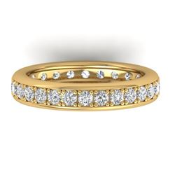1.33 CTW Certified VS/SI Diamond Eternity Band Ladies 14K Yellow Gold - REF-98M5F - 30329