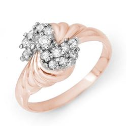 0.25 CTW Certified VS/SI Diamond Ring 18K Rose Gold - REF-46H2W - 14327